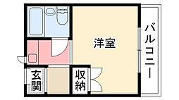 カルム甲子園[603号室]の間取り