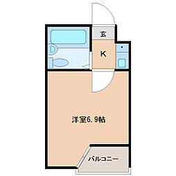 ベルシティ高松[3階]の間取り