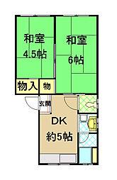 中井ビル[4階]の間取り