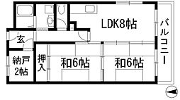 フルーレ石橋[2階]の間取り