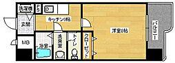 広島県広島市南区東雲3丁目の賃貸マンションの間取り