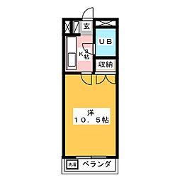 コーポラス城田寺[3階]の間取り
