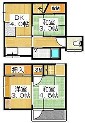 [テラスハウス] 大阪府堺市堺区南安井町3丁 の賃貸【/】の間取り