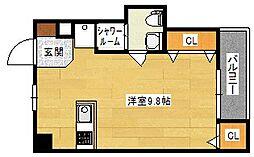 広島県広島市南区西蟹屋4丁目の賃貸マンションの間取り