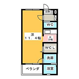 ハピネス・Y[3階]の間取り