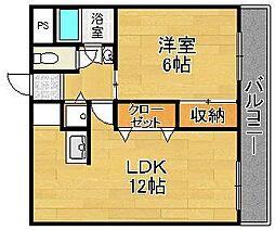 橋本マンション[3階]の間取り