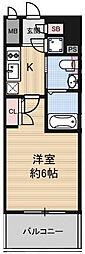 阪神本線 淀川駅 徒歩3分の賃貸マンション 2階1Kの間取り