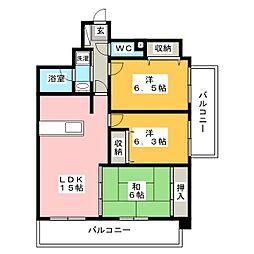 サニーハウス長丘東公園[4階]の間取り