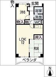 アビタシオン天子田[1階]の間取り