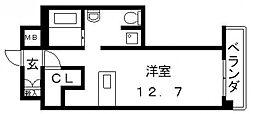 エクセルコート布施タワー[1203号室号室]の間取り