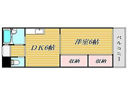 東京都板橋区坂下1丁目の賃貸マンションの間取り