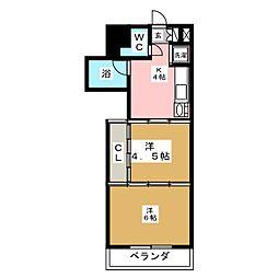シャングリラ大和町[4階]の間取り