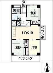 八事パークマンション[1階]の間取り