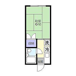 清風荘[205号室]の間取り
