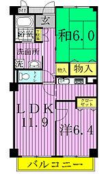 エクセレントハウス[102号室]の間取り