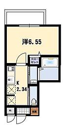 沖縄都市モノレール おもろまち駅 徒歩5分の賃貸マンション 4階1Kの間取り