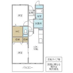 木村ロイヤルマンション III[701号室号室]の間取り