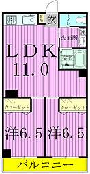 時田稔台ハイツ[105号室]の間取り