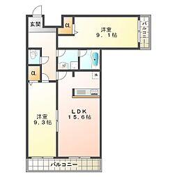 ニューナイスマンション[1階]の間取り