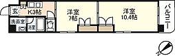 広島県広島市中区上幟町の賃貸マンションの間取り