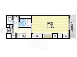 阪急京都本線 総持寺駅 徒歩5分の賃貸マンション 1階1Kの間取り