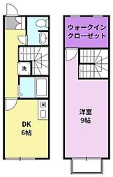 JR久大本線 久留米大学前駅 徒歩15分の賃貸アパート 1階1SDKの間取り