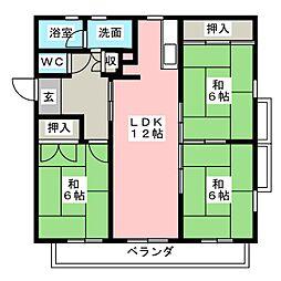 サンブライトハウス[5階]の間取り
