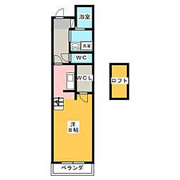 GRACE COURT SHIZUOKA 5階ワンルームの間取り