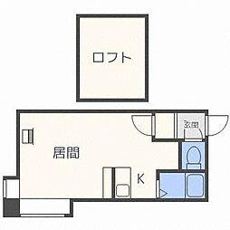 コンフォール東札幌[2階]の間取り