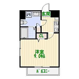 グランフォースお花茶屋[9階]の間取り