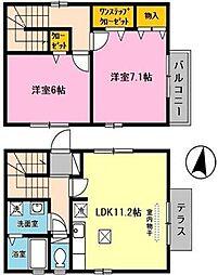 ドルフ須磨[2階]の間取り