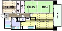 兵庫県神戸市東灘区魚崎南町4丁目の賃貸マンションの間取り