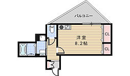コスタ河堀口[301号室]の間取り