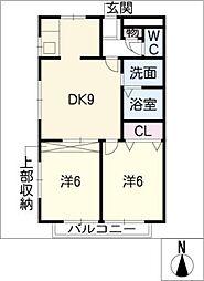 アバジュール扶桑[2階]の間取り