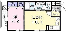 トレーデ[1階]の間取り