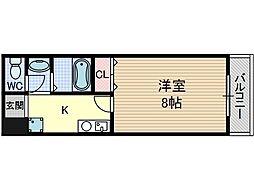 Dorm Ibaroad[5階]の間取り