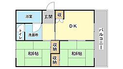 上野田マンション[501号室]の間取り