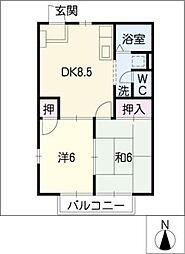 グレイス大高B棟[2階]の間取り
