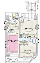 JR総武線 飯田橋駅 徒歩5分の賃貸マンション 12階2LDKの間取り