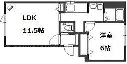 イムーブル[4階]の間取り