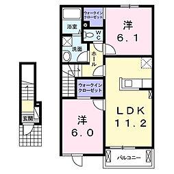 ユニゾン ガーデン II[2階]の間取り