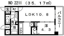 アール・オーハイム松崎町[6階]の間取り