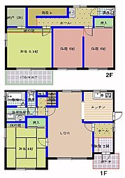 [一戸建] 茨城県水戸市河和田1丁目 の賃貸【/】の間取り