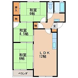 久保山ビレッジ[2階]の間取り