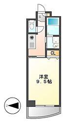 ライジングビラ葵[8階]の間取り