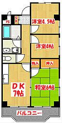 セントピアプラザA棟[2階]の間取り