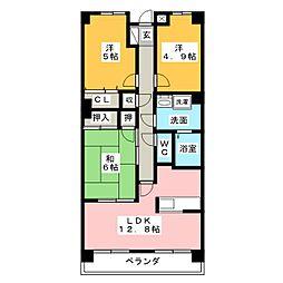 MOMOYAMA GARDEN HILLS[2階]の間取り