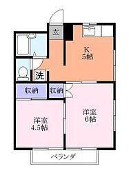 クレセントハウス[2階]の間取り