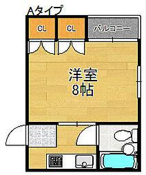 ニュー若草マンション[4階]の間取り