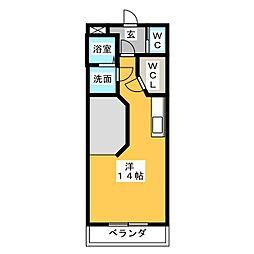 ボー・ビスタ[1階]の間取り